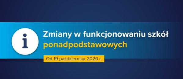 Od 19.10.2020 r. rozpoczynamy zdalne nauczanie